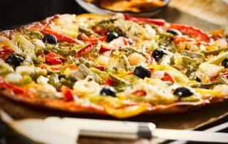 Pizza allégée, pizza végétarienne 79